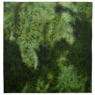 緑のブロケードの背景のデザイン ナプキンクロス