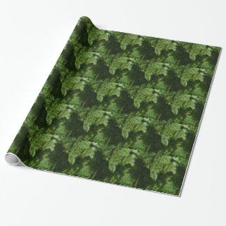 緑のブロケードの背景のデザイン ラッピングペーパー