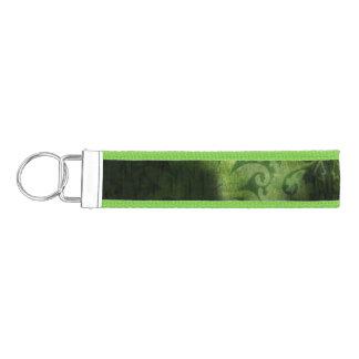 緑のブロケードの背景のデザイン リストバンドキーホルダー