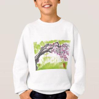 緑のプラム花 スウェットシャツ