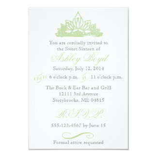 緑のプリンセスのSweet sixteenの招待状 カード