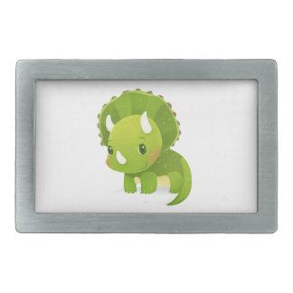 緑のベビーのかわいい恐竜の漫画 長方形ベルトバックル