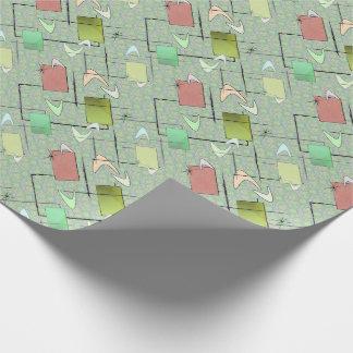 緑のベビーのブーメラン ラッピングペーパー