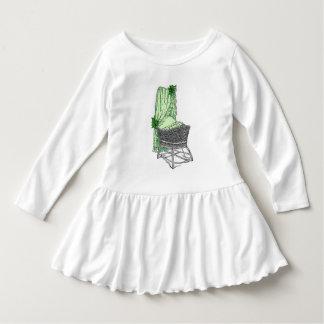 緑のベビーのBassinet ドレス
