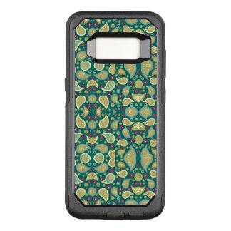 緑のペイズリーのSamsungの銀河系S8のオッターボックスの箱 オッターボックスコミューターSamsung Galaxy S8 ケース