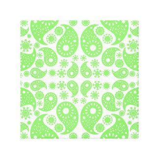 緑のペーズリー キャンバスプリント