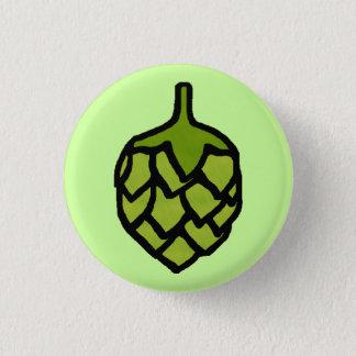 緑のホツプの植物ビール 缶バッジ