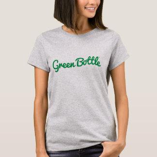 緑のボトルの女性灰色のTシャツ Tシャツ
