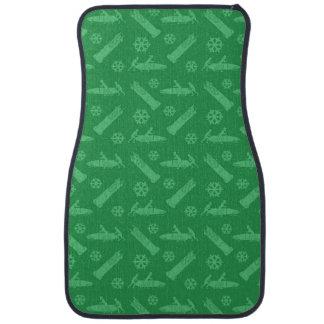 緑のボブスレーパターン カーマット