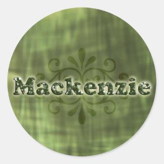 緑のマッケンジー ラウンドシール