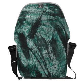 緑のマーカーの黒いインク メッセンジャーバッグ