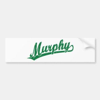 緑のマーフィーの原稿のロゴ バンパーステッカー