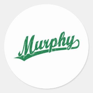 緑のマーフィーの原稿のロゴ ラウンドシール
