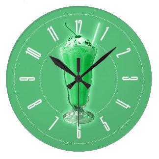 緑のミルクセーキ ラージ壁時計