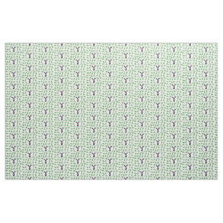 緑のメガホンのチアリーダーのデザイン ファブリック