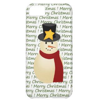 緑のメリークリスマスの雪だるまのクリスマスのiPhone 5の箱 iPhone5Cケース