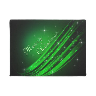 緑のメリークリスマス ドアマット