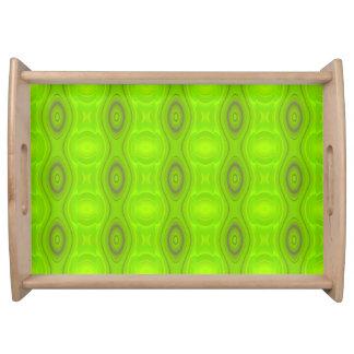 緑のモダンなパターントレイ トレー