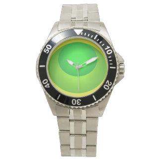 緑のモダンなPopartのビーチの腕時計 腕時計