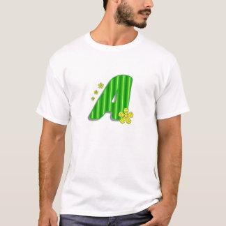緑のモノグラムA Tシャツ