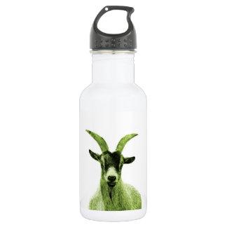 緑のヤギの頭部 ウォーターボトル