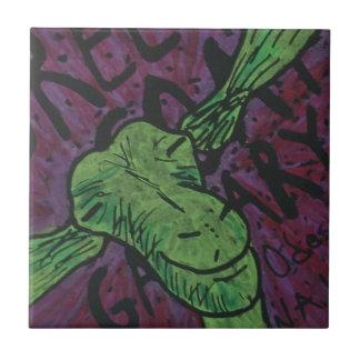 緑のヤギ タイル