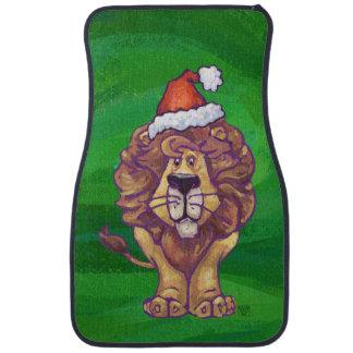 緑のライオンのクリスマス カーマット