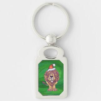 緑のライオンのクリスマス キーホルダー