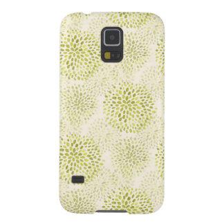 緑のライムの水彩画の花模様 GALAXY S5 ケース