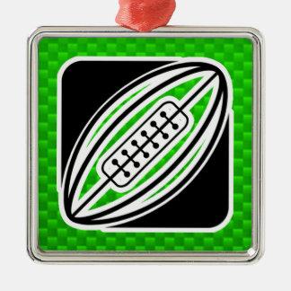 緑のラグビー メタルオーナメント