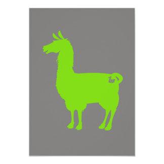 緑のラマの招待状 カード