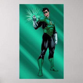 緑のランタン及びリング ポスター