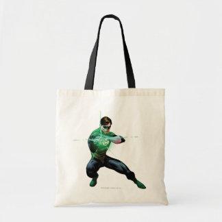 緑のランタン及び白熱[赤熱]光を放つなリング トートバッグ