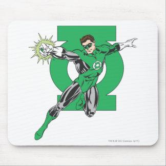 緑のランタン及び記号 マウスパッド
