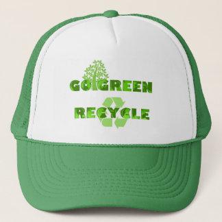 緑のリサイクルの環境の帽子 キャップ
