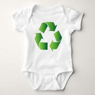 緑のリサイクルの記号 ベビーボディスーツ