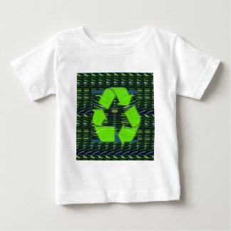 緑のリサイクルはトロフィの記号NVN716に挑みます ベビーTシャツ