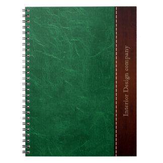 緑のレザールック ノートブック