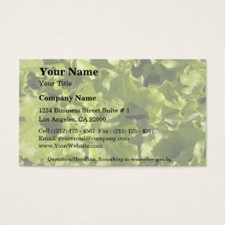 緑のレタス 名刺