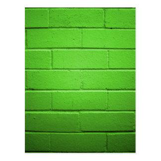 緑のレンガ壁 ポストカード