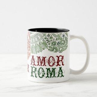 緑のレースとのAmorローマ ツートーンマグカップ