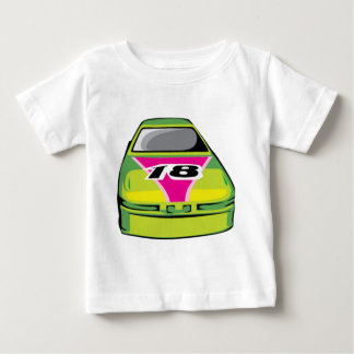 緑のレースカー ベビーTシャツ