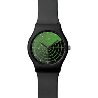 緑のレーダースクリーンの腕時計 腕時計