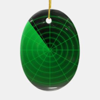 緑のレーダーパターン セラミックオーナメント
