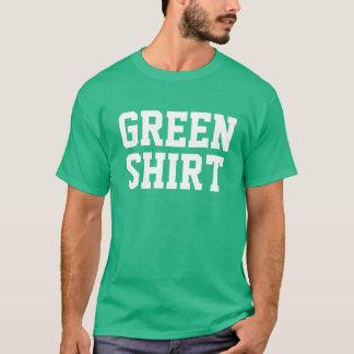 緑のワイシャツのおもしろいなセントパトリックの日 Tシャツ