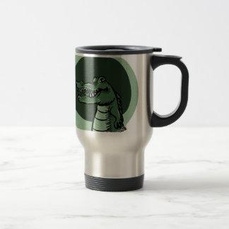 緑のワニ トラベルマグ