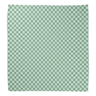 緑のヴィンテージのギンガム バンダナ
