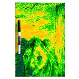 緑のヴィンテージのライオンのsimba Hakunamatata Simba Marara ホワイトボード