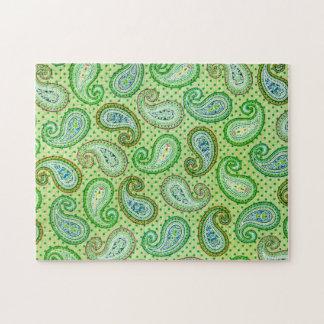 緑のヴィンテージの質パターン不可能なパズル ジグソーパズル
