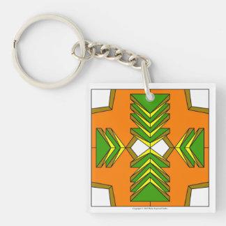 緑の三角形のキーホルダー 正方形(片面)アクリル製キーホルダー